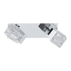 Eglo Lighting - Eglo Lighting 92663A Quarto 2-Light Wall Sconces in Chrome - Chrome LED 2x5W Wall/Ceiling Light w/ Clear Glass