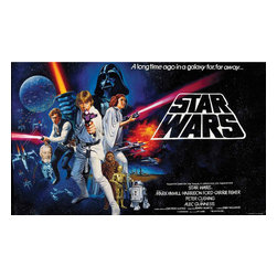York Wallcoverings - Star Wars Classic Luke Giant Wallpaper Accent Mural - FEATURES: