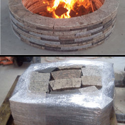 Recycled Granite Firepit - Environmentally friendly, made from recycled granite, this is a beautiful addition to any hardscaping project