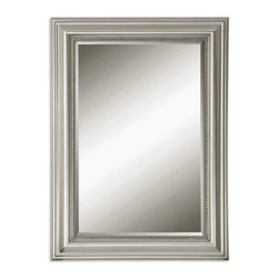 Silver Leaf Rectangle Mirror with a Gray Glaze - Silver Leaf Rectangle Mirror with a Gray Glaze