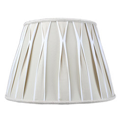 Home Concept - Beige/White  with Off White Liner Premium Lampshade 10.5 x 16 x 11 - Celebrate Your Home - Home Concept invites you to welcome your guests with our array of lampshade styles that will instantly upgrade your space