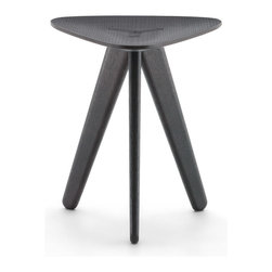 IMPORT LIGHTING & FUNITURE - Ipsilon Stool or Table, Black - Stool result of research by studying contrast in style and involving shapes and materials. Indeed, a well-defined style with high degree of originality.