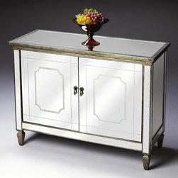 Butler - Console Cabinet in Mirror Finish - Mirror finish