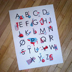 Alphabet Poster Musical Instrument ABC's By Tin Whistle Press - Your wee one will learn all the letters in the alphabet as well as all the instruments in the orchestra with this great print.
