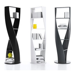 MYDNA - This fascinating bookshelf is twisted. This is a beautiful decorative piece that gives those books a place to reside.