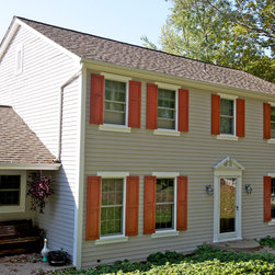 Level Green, PA - Double Hung Windows, Grilles Between the Glass in Top and Bottom Sashes, Full Extruded Aluminum Screens. Infinity from Marvin Fiberglass Replacement Windows.
