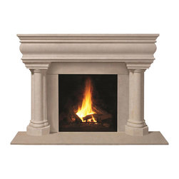 Omega Mantels & Mouldings Ltd - 1106.555 cast stone mantel, Buff  Open Cast - This unique design will help you achieve the look you desire.