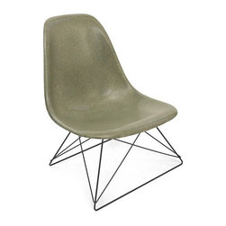 Modernica Low Rod Side Shell Chair - The Case Study Fiberglass Low Rod Chair adds an understated refinement to any room. Pick your shell and choose the wire-frame in either chrome-plated steel or black powder-coated steel.