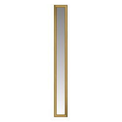 """Posters 2 Prints, LLC - 14"""" x 80"""" Arqadia Gold Traditional Custom Framed Mirror - 14"""" x 80"""" Custom Framed Mirror made by Posters 2 Prints. Standard glass with unrivaled selection of crafted mirror frames.  Protected with category II safety backing to keep glass fragments together should the mirror be accidentally broken.  Safe arrival guaranteed.  Made in the United States of America"""