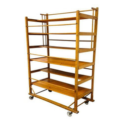 """Used Vintage Wooden Shoe Drying Rack - Design Plus Gallery brings us a vintage wooden rack. Who would have thought that a """"shoe drying rack"""" could be so interesting and multifunctional? Use it in the kitchen, bedroom or living room! This moveable creation is a lifesaver for space saving and organization."""