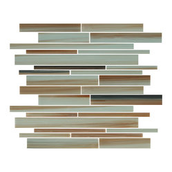 Sunset Beach Linear Glass Mosaic Tiles