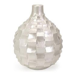Pearl Texture Ceramic Vase - Small - *Small textured pearl finish vase
