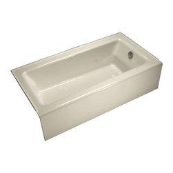 KOHLER - KOHLER K-876-47 Bellwether Bathtub with Integral Apron and Right-Hand Drain - KOHLER K-876-47 Bellwether Bathtub with Integral Apron and Right-Hand Drain in Almond