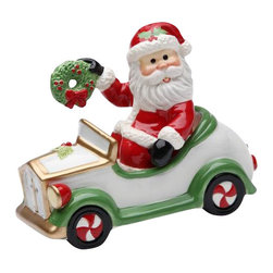 Cosmos - Santa Claus Holding a Reef and Driving a Car Salt and Pepper Shakers - This gorgeous Santa Claus Holding a Reef and Driving a Car Salt and Pepper Shakers has the finest details and highest quality you will find anywhere! Santa Claus Holding a Reef and Driving a Car Salt and Pepper Shakers is truly remarkable.