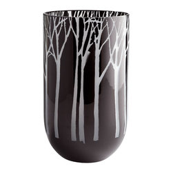 Cyan Design - Obsidian Forest Vase - Medium - Medium obsidian forest vase - black
