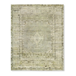 Hand-Knotted Lustrous Stone Rug - I am totally swooning over this soft-as-butter rug.