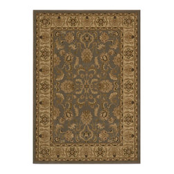 Momeni - Royal Collection Slate - RY-04 - Rugs by Momeni - Royal is an elegant collection of traditional designs in a power-loomed construction of soft polypropylene. Old world motifs adorn these densely plush pieces that will add a rich touch to any decor.