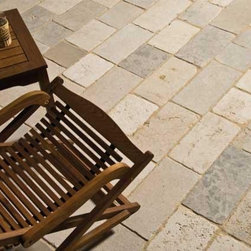 French Limestone Flooring- Cobblestone- Francois & Co. - Small pieces of stone laid on floors are often associated with old street pavements of Paris. Our cobblestone is a combination of french limestone with a rustic finish ideal for exterior applications.