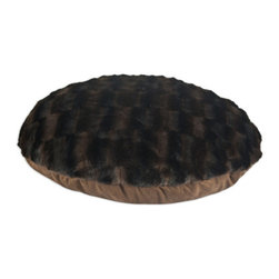 "Taline Fur-PS Chocolate 36"" Round Pet Bed - Taline Fur-PS Chocolate 36"" Round Pet Bed"