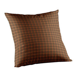 Patch Quilts - Green and Warm Brown and Red Plaid Fabric Toss Pillow 16 x 16 Inch - Home spun  yarn dyed fabric throw pillow  - complements with Patch Magic brand quilted line  - Machine washable  Line or Flat dry only Patch Quilts - TPW315A