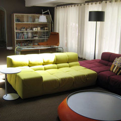 modern family room by schristen.com