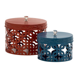 Too Beautiful Metal Acrylic Box, Set of 2 - Description: