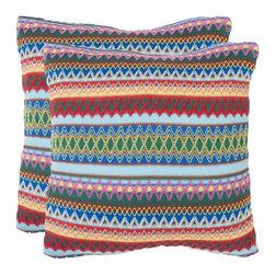 Safavieh - Mirabelle Accent Pillow  - 22x22  - Blue - Mirabelle Accent Pillow  - 22x22  - Blue