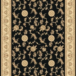 "Dynamic Rugs - Dynamic Rugs Rug, Black, 5' 3"" x7' 7"" - The Legacy Collection by Dynamic Rugs features persian styled rugs with 800,000 points with traditional colors."