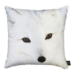By Nord Copenhagen - Baby Snow Fox Kids Cushion - Hello gorgeous Snow Fox...a kids cushion with a digital print of a Snow Fox in By Nord's recognized cotton canvas quality fitted with a hypoallergenic fiber cushion.