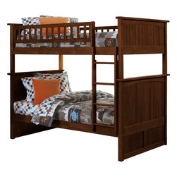 Nantucket Bunk Bed Full Over Full / Antique Walnut - Features: