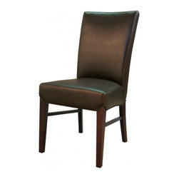 NPD (New Pacific Direct) Furniture - Milton Dining Chair (Set of 2) by NPD Furniture, Coffee Bean Bonded Leather - Milton dining chairs are beautiful and comfortable with sturdy solid birch wood construction and fabric or bonded leather upholstery. They are easy to assemble and will look great as side chairs in any dining room. Set includes 2 chairs.
