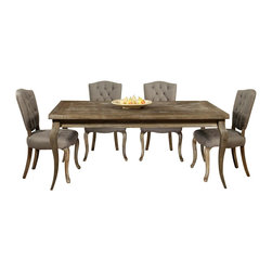 "Pastel Furniture - Pastel Furniture Utopia 5 Piece 72x42 Rectangular Dining Room Set in Charcoal - The Philadelphia Collection features Utopia Wood Rectangular Dining Table with72""x42"" Distress Charcoal wood top. It is paired with Philadelphia Side Chair that is chair is finished in Distress Charcoal wood and elegantly upholstered in Grey My Linen."