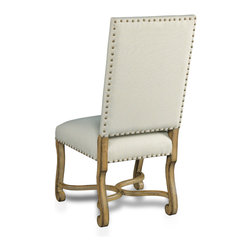 Hooker Furniture - Decorator Chair - Dining Side Chair 81 - Set of 2 - White glove, in-home delivery included!  Fabric: Bayeux Linen  Finish: Sorella  Side chair is in a set of two chairs.  Arm chair sold individually.