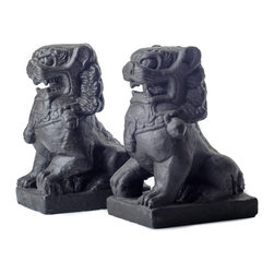 Repose Home - Guardian Lion - In Chinese culture, statues of Fu Dogs, or Guardian Lions, have traditionally stood guard in front of palaces, temples, or government offices to protect the building. Our pair of guardian lions will serve the same duty at your front door.