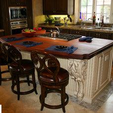 Mediterranean Kitchen Islands And Kitchen Carts by FineCraft Custom Cabinetry Inc.