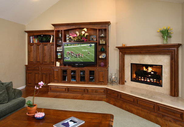 Traditional Family Room by Precision Cabinets