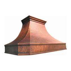 """myCustomMade - Copper Oven Hood """"Baltimore"""", Natural Fired, 36"""", Wall Mount - Old European design makes this copper oven hood a great addition to the kitchen. Customize the traditional copper hood by choosing natural fired, coffee, honey or antique finishing. """"Baltimore"""" style is produced as 30, 36 or 48 inches wide. Its depth is 22"""", height 36"""" and it takes about thirty days to deliver. Once purchased specify the hood 21000006 version as wall mount or kitchen island. Enjoy free delivery."""