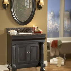 Weathered Black Bathroom Vanities - Get Ideas and Shop! - Weathered Black Bathroom Vanities – Getting A Grunge-Free Aged Finish