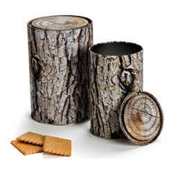 Woodstock Container - For those who live in the woods and want their kitchenware to blend in with the scenery, there's this log cookie jar.