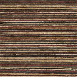 "Loloi Rugs - Loloi Rugs Zuhri Collection - Garnet / Topaz, 5'-6"" x 8'-6"" - The Zuhri Collection from India features 100% eco-friendly jute, with a strategic mix of hand-knotted and hand-looped construction to add textural interest. Zuhri features a plush pile, and is available in a series of sophisticated color combinations that will instantly enhance a variety of room settings."