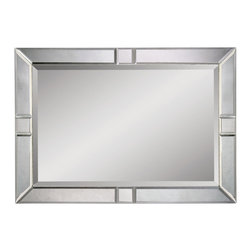 Bassett Mirror - Beveled Rectangle Wall Mirror - Beveled Clear - Rectangle. Measures: 30 in. W x 42 in. H.