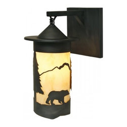 Steel Partners Inc - Hanging Sconce - PASADENA BEAR - Every piece we create is unique — handcrafted at our factory in Chehalis, Washington, USA. Due to this, lead times are 2 to 4 weeks.