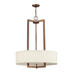 Hinkley Lighting - Transitional Three Light Down Lighting Medium Pendant - Bulb Base:Medium (E26). Bulb Wattage:100. Bulb Count:3. Bulbs Not Included
