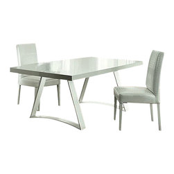Rossetto - Rossetto Nightfly Rectangular White Dining Table - Features: