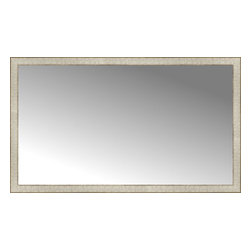 """Posters 2 Prints, LLC - 56"""" x 33"""" Libretto Antique Silver Custom Framed Mirror - 56"""" x 33"""" Custom Framed Mirror made by Posters 2 Prints. Standard glass with unrivaled selection of crafted mirror frames.  Protected with category II safety backing to keep glass fragments together should the mirror be accidentally broken.  Safe arrival guaranteed.  Made in the United States of America"""