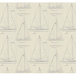 Chesapeake Novelty in Navy On White - Nobody does nautical better than Ralph Lauren. Check out the fabric Chesapeake Novelty in Navy on White!