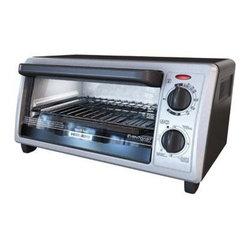 Applica - Black Decker 4 Slice Toaster Oven - Black and Decker 4-Slice Toaster Oven with Even Toast Technology