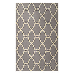 nuLOOM - Transitional 5'x8' Grey Hand Hooked Area Rug Hawa Moroccan Trelli - Made from the finest materials in the world and with the uttermost care, our rugs are a great addition to your home.
