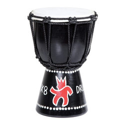 X8 Drums - X8 Drums Mini Djembe Drum - MINI-X8 - Shop for Toy Instruments from Hayneedle.com! The X8 Drums Mini Djembe Drum is a smaller version of a djembe drum perfect for beginners. This one comes with a hand-painted spark design a goatskin head and beaded ropes. About X8 DrumsX8 Drums truly walks to the beat of their own drum. This family-owned company is committed to providing the best selection of high-quality musical instruments with an emphasis on world music percussion instruments. X8 Drums has certainly helped champion ethnic hand drums in the digital age thanks to its founders - a New York City rocker and an internet sage.