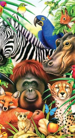 Animal Magic Puzzle - 60 Piece Jigsaw PuzzleWelcome to a jungle full of friendly faces with this amazingly illustrated kids puzzle by artist Howard Robinson. A great puzzle to do with children ages 6 and up as naming all of the animals is both educational and fun!